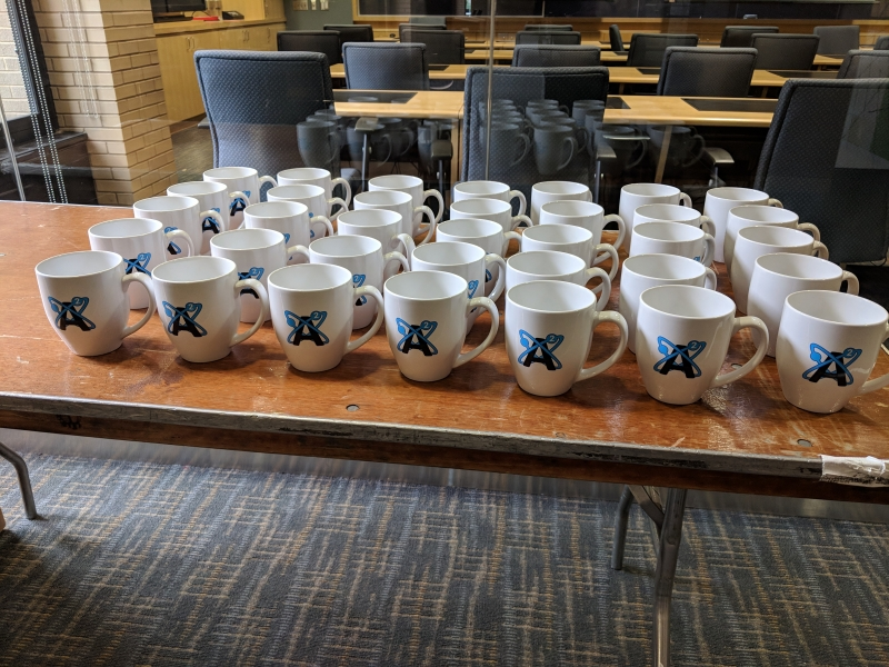 Avogadro meeting in Pittburgh, PA—so many mugs